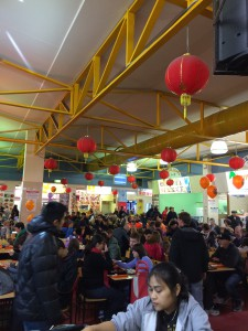 Food court bij Adelaide Central Market