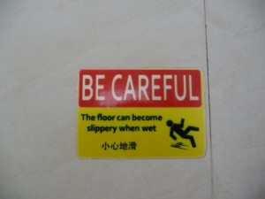 China slippery floor verkeersbord road sign