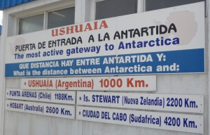 Argentinië verkeersbord road sign of the world antartica