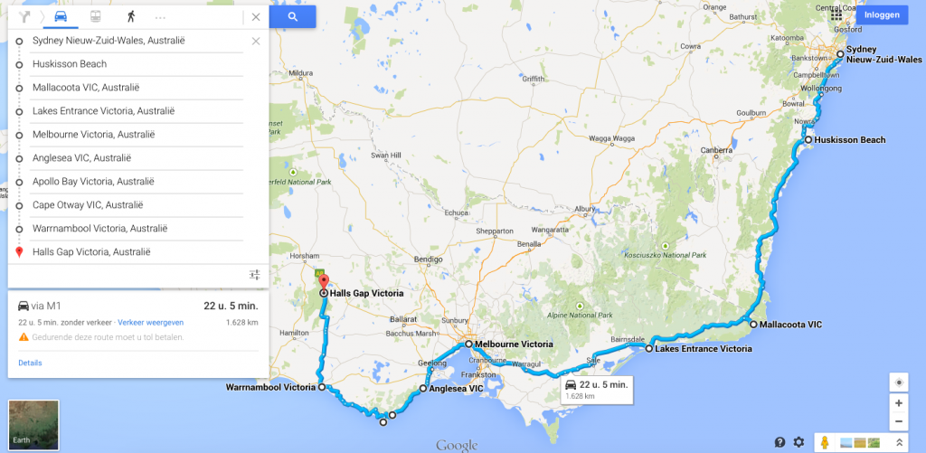 Aus route outback great ocean road deel 1