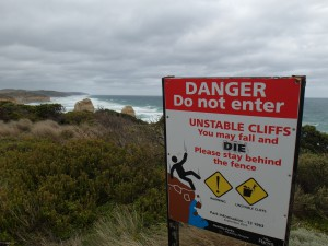 As great ocean road signs of the world you die