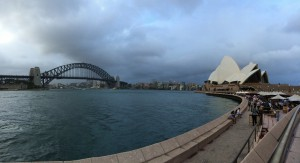 Aus NSW Sydney cbd opera house harbour bridge wolken weer