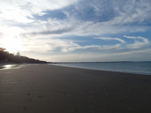 Aus QLD Hervey Bay strand
