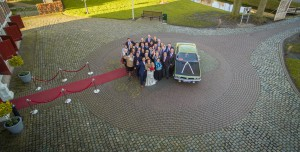 Drone foto met alle daggasten // Drone shot with all guests during the day