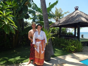 In Balinese outfits