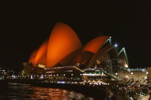 Sydney Opera House is oranje voor de gelegenheid